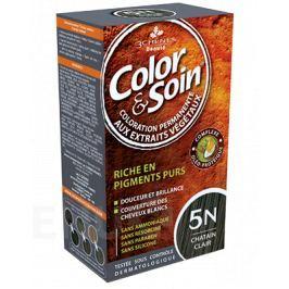 Barva Color&Soin 5N - světle hnědá 135ml