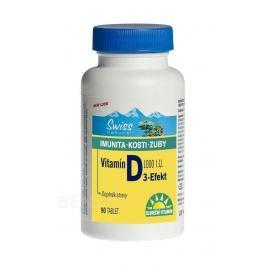 Swiss Vitamín D3-Efekt 1000I.U. tbl.90