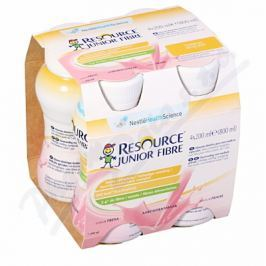 RESOURCE JUNIOR FIBRE JAHODA POR SOL 4X200ML