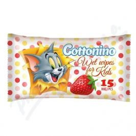Cottonino Dětské vlhč.ubrousky Tom&Jerry jah.15ks