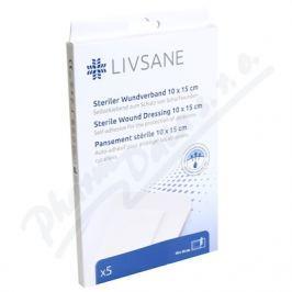 LIVSANE sterilní náplast na oděrky 10x15cm 5ks