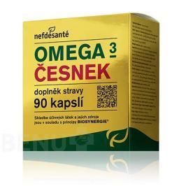 Nefdesanté Omega 3 česnek cps.90