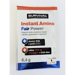 Instant Amino Fair Power 6,4 g jahodové mojito, Survival