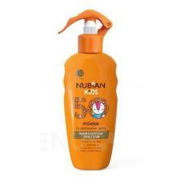 Nubian Kids mléko na opalování sprej SPF50 200ml