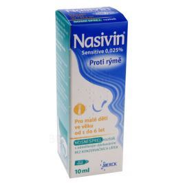 NASIVIN SENSITIVE 0,025 % 0,25MG/ML NAS SPR SOL 1X10ML