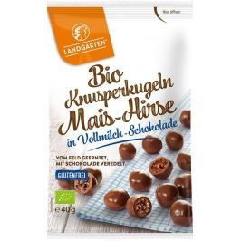 Landgarten BIO křupavý snack v mléčné čokoládě 40g